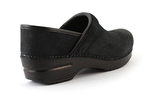 dansko zoccolo Professional Burnished Suede Black Nero