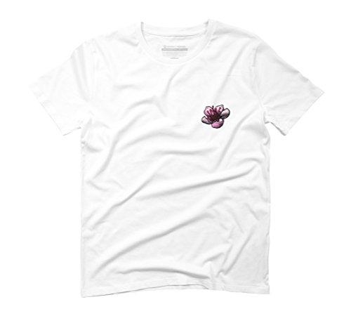 Cherry Blossomy Men's Graphic T-Shirt - Design By Humans White