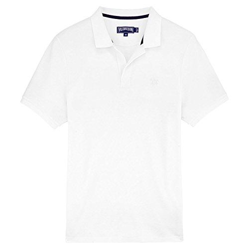 Vilebrequin Shirt Herren - Polohemd aus Baumwollpikee Weiß