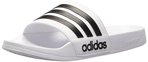 adidas Adilette Shower Scarpe da Spiaggia e Piscina Uomo, Bianco (Ftwwht/Cblack/Ftwwht Ftwwht/Cblack/Ftwwht), 42 EU (8 UK)
