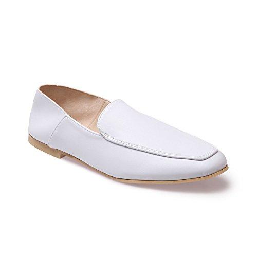 La Modeuse Slippers Femmes en Simili Cuir Blanc