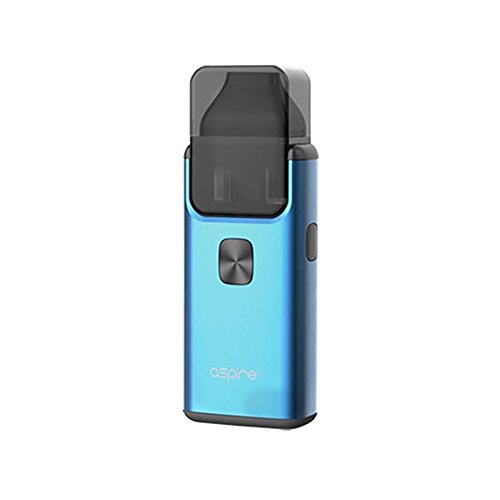 Original Aspire Breeze 2 AIO all-in-one Kit 3ml - 1000mAh Batterie/Top füllen/Eingebauter Verdampfer Enthält Kein Nikotin (Blau) (Nikotin Low)