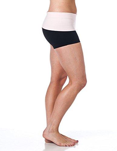 Alki'i Short de Yoga avec rabat à la taille Rose