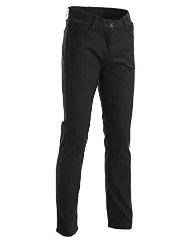 FLATSEVEN Mens Slim Fit Flat Front 5 Pocket Casual Twill