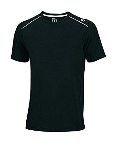 Wilson Herren T-shirt M nVision Elite Crew BK, Black, L, 0097512221542 (Herren-elite-polyester)