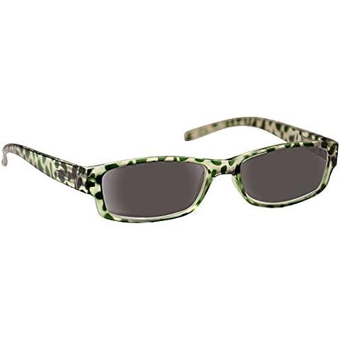 UV Reader Lettori Sole Occhiali da lettura Occhiali da sole da donna verde UVSR009+ 3.00Occhiali mondo Eye Wear