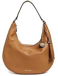 Michael Kors Women's Large Lydia Small Pebble Leather Shoulder Bag Hobo - Acorn