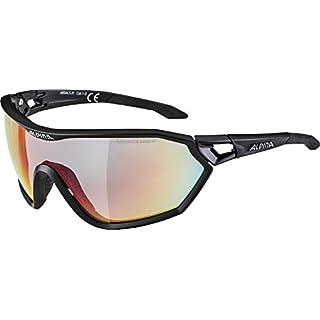 ALPINA Erwachsene S-Way QVM+ Sportbrille, Black matt, One Size