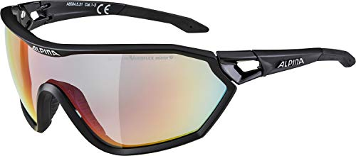 ALPINA Erwachsene S-Way QVM+ Sportbrille, Black matt, One Size