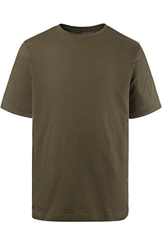 JP 1880 Herren Große Größen bis 8XL | T-Shirt, Basic-Shirt | Rundhals, Halbarm | Baumwolle, Viskose | Mehrere Farben | Khaki 7XL 702558 44-7XL