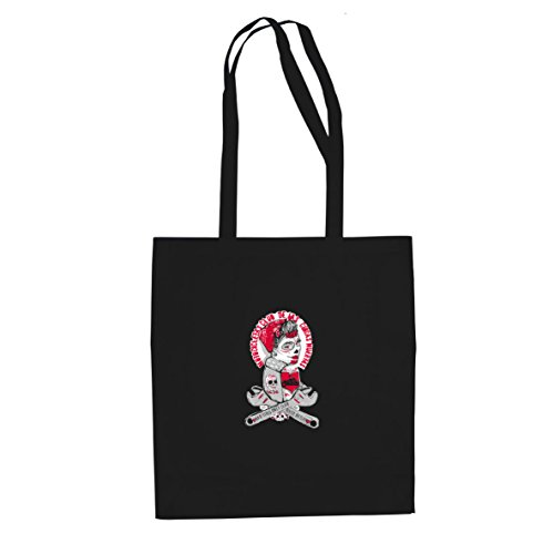 Bad Girls only: Chicas Muertas - Stofftasche / Beutel, Farbe: (Santa Girl Bad Kostüm)