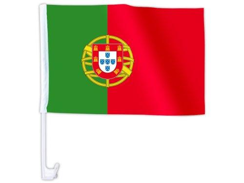Alsino Eine WM Länder Auto Fahne Autoflagge Autofahne Fahne Auto Länderflagge Auto Fenster Flagge, wählen:AFL-06 Portugal