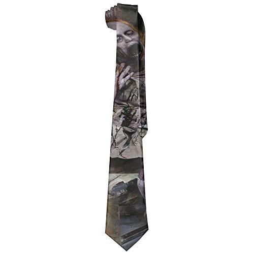 Halloween Evil Makeup Skinny Silk Tie Necktie Fashion Gift Weddings Gentleman Groom Business ()
