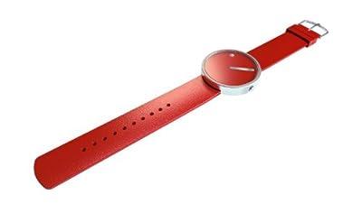 Reloj Rosendahl Timepieces de cuarzo unisex con correa de silicona, color rojo de Rosendahl Timepieces