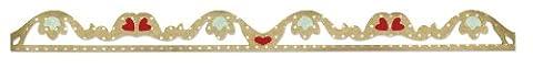 Sizzix 658921 Sizzlits Matrice Bande Décorative Ruche Romantique de Scrappy Cat 6 x 32,4 x 0,4 cm