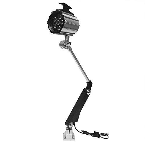 Wisamic Lange Arm 12W LED Werkzeug Drehmaschine Lampe 110V- 220V Maschinenleuchte Arbeitsleuchte einstellbar Arbeitsscheinwerfer mit 50.000 Stunden Lebensdauer