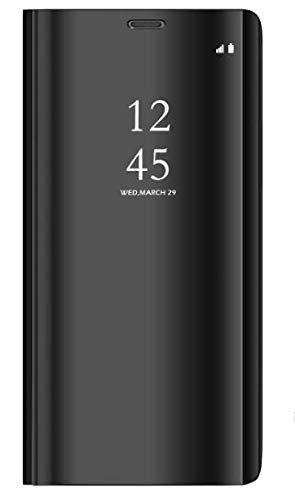 e238b6c4674 BCIT Samsung Galaxy S9 Funda - Modelo inteligente Fecha / Hora Ver Espejo  Brillante tirón del
