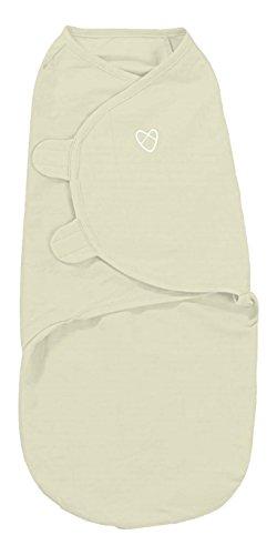 SwaddleMe B3N Baby-Groß/Baumwolle/Natur - Ganzkörper-Pucksack ist ideal bei Schreibabys.