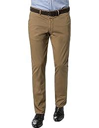 RENÉ LEZARD Herren Chino Baumwolle Hose Unifarben, Größe: 54, Farbe: Braun