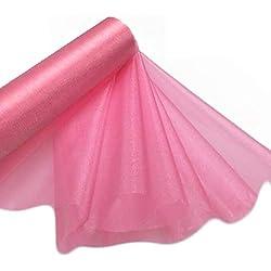 29cm X 25m Rouleau de Organza Tissu Transparent - Élégant Décorative Tissu pour Mariage Chaise Noeuds, Chemins de Table, Cadeau Fête - Crafting Fournitures pour Rubans ,Robe Accents, et Sacs