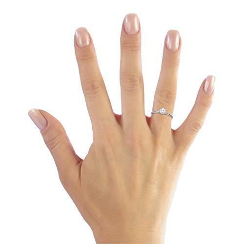 Hochwertiger Unique Verlobungsring aus 925 Silber mit Zirkonia VR0013 - 3