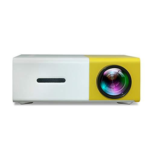JANRON-Video Mini Multimedia Tragbar Full HD Beamer,Videobeamer unterstützt 1080P Full HD, Verbindung mit mit HDMI/VGA/AV/Micro SD/USB / PS4 / Smartphone/iPad Xbox Gelb/Schwarz - Tragbar Multimedia-projektor
