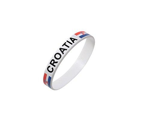 Kroatien Weiße Weltmeisterschaft Olympia-Silikon-Armbänder (25er Pack)