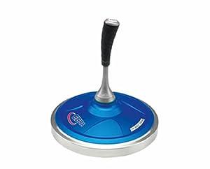 EBRA Hobby Eisstock Set 3,8 kg (blau), Kompaktstiel, Winterlaufplatte schwarz...