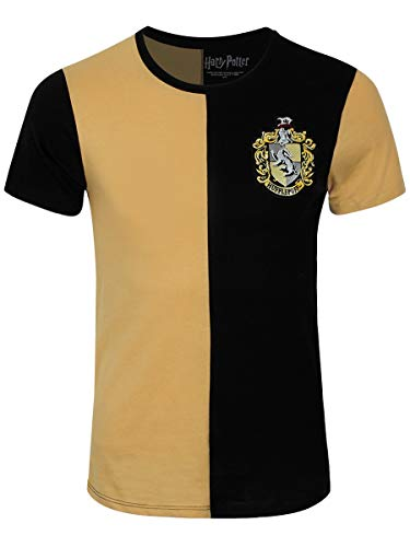 Harry Potter Herren T-Shirt Hufflepuff Tournament Baumwolle gelb schwarz - L