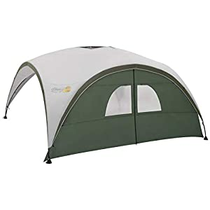 side panel for coleman event shelter m/l/xl, gazebo side panel with windows and door, high sun protection 50+, water resistant, green