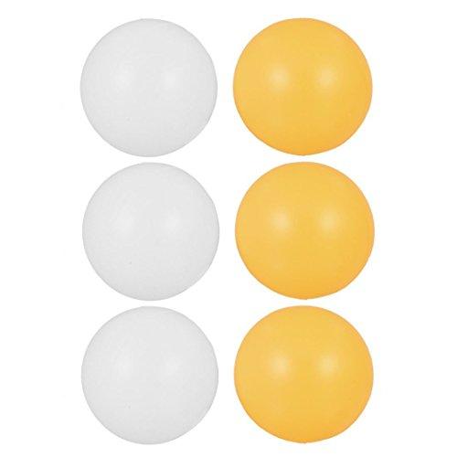 SODIAL (R) 6 Stueck 39 mm Durchmesser Sport Tischtennisbaelle Tischtennis Kugel - Weiss & Gelb