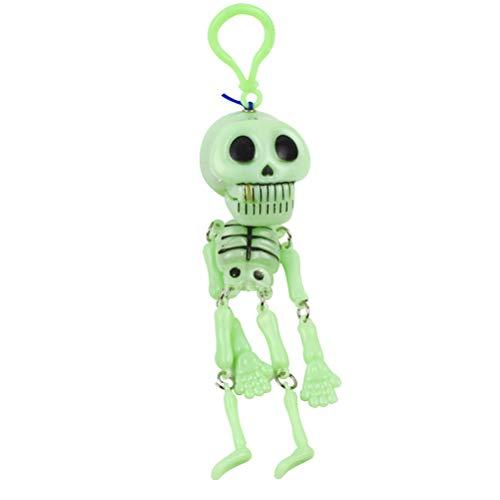 Amosfun 2 Stücke Skeleton Keychain Kinderspielzeug Bewegt die nachtlicht Kleine Skeleton Regal Keychain Pull Ghost für Kinder Geschenk Halloween Party Favors