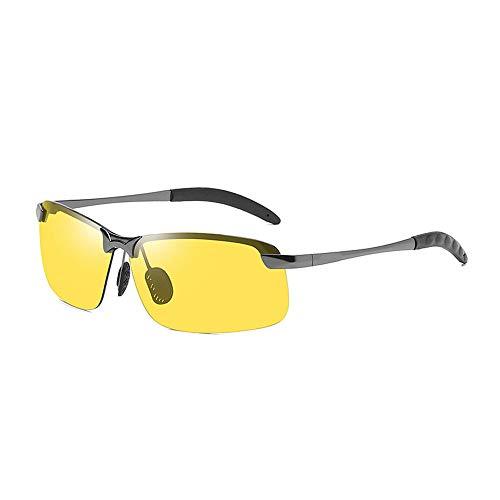 xinzhi Tag und Nacht Brille, Sonnenbrille mit wechselnder Sonnenbrille Tag und Nacht polarisierte Sonnenbrille Nachtsichtbrille - # 1, Gun Frame Night Vision