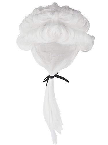 Herren Anwalt Cosplay Perücke George Washington Kostüm Zubehör, weiß ()