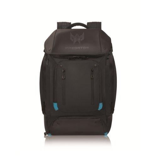 Acer Predator Zubehör Gaming Utility Rucksack (für alle 15,6 Zoll und 17,3 Zoll Notebooks geeignet, viele Zusatzfächer, standfest, bequeme Polsterung) schwarz