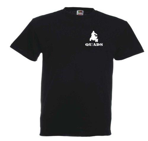Quads T558 Unisex T-Shirt Textilfarbe: schwarz