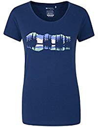 Mountain Warehouse Lake Time Womens Tee - Lightweight Ladies Tshirt, Breathable, Sweat Wicking Summer Top, Quick Drying, Tee Shirt -for Travelling, Running, Sports & Gym