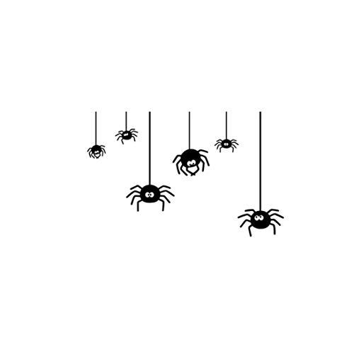 LANDFOX 57x26CM Halloween Spinne Wandaufkleber Halloween Spinne Hintergrund Wandaufkleber Fenster Dekoration Abziehbild Dekor Wanddekoration mit Klebepunkten