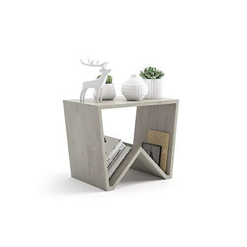 Mobili fiver, tavolino da salotto emma, cemento, 50 x 33 x 40 cm, nobilitato, made in italy, disponibile in vari colori