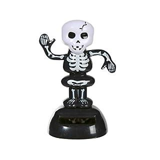 alltoshop® Skelett Solarfigur Wackelfigur, Skull, Tod, Wackelkopffigur Tanzt Solar Figur