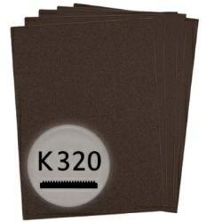 K320 Schleifpapier in 10 Bögen, 230x280mm - für Lack und Auto, wasserfest