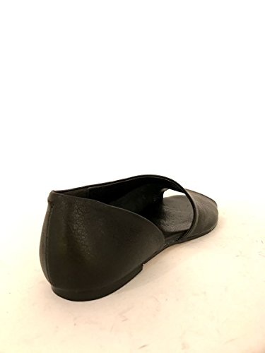 Sandali in pelle nero 903 tacco basso open toe made italy MainApps Nero