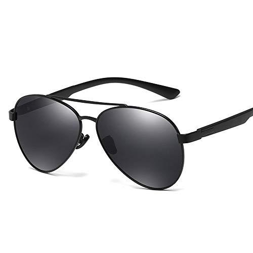 Easy Go Shopping Trends Fashion Men Metallrahmen Driving Sonnenbrille Polarisierte Sonnenbrille Sonnenbrillen und Flacher Spiegel (Color : Schwarz, Size : Kostenlos)