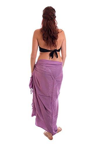 Beste Auswahl Großer Premium Sarong Pareo Wickelrock Strandtuch Schal Handtuch Wickelrock Hell Lila Flieder