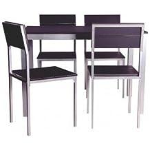 Conjunto mesa y sillas cocina for Sillas comedor amazon