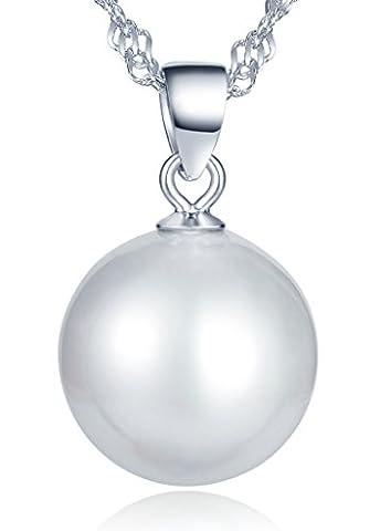 Infinite U 925 Argent Fille/Femme Classique Rond Grand 13mm Perles d