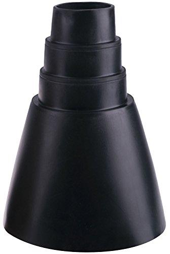 DUR-line Universal Gummi-Manschette - Schwarz - Made in Germany - 32-60 mm Durchmesser - Superelastisch und UV-beständig; Abdichten von Antennenmasten [Dachziegel, Gummi-Abdichtung; Manschette]