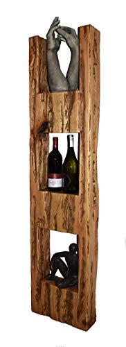 Wood & Wishes - Rustikales Wandregal, Wandboard, Standregal, Schweberegal aus Massivholz; gefertigt...