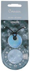 Natural & Books: Halskette Anhänger Donuts PI Opalith–Krebs–Heilstein: Wunsch–Aufladung–Transformation
