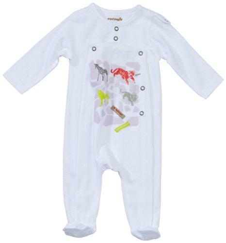 7965454622452 Berlingot Pyjama - Bébé Garçon - Blanc (1) - FR   6 mois (